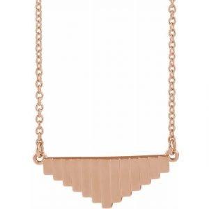 Rose Gold Mondrian Emulate Pendant Necklace