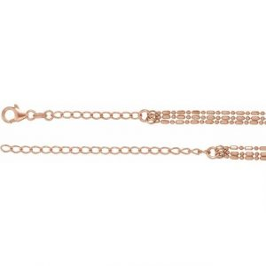rose gold bead chain choker side view