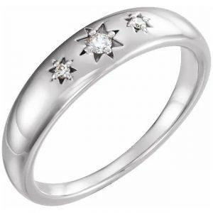 white gold fashion statement ring with starburst diamonds