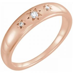 rose gold fashion statement ring with starburst diamonds