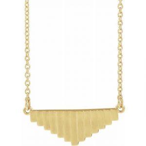 Yellow Gold Mondrian Emulate Pendant Necklace