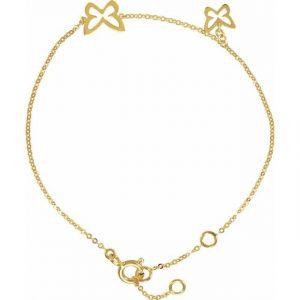 Yellow Gold Multi Butterfly Chain Bracelet