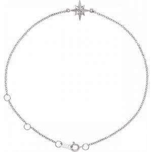 White Gold Celestial Star Bracelet