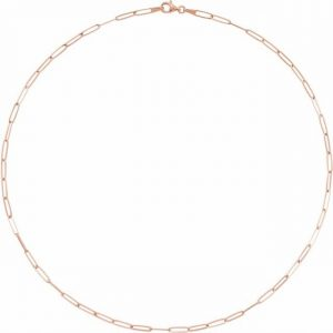 rose gold flat chain link necklace