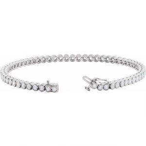white gold diamond dainty tennis bracelet