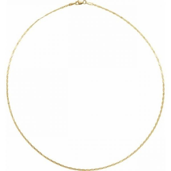 yellow gold mirror link chain necklace