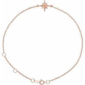 Rose Gold Celestial Star Bracelet