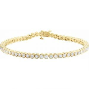 yellow gold diamond dainty tennis bracelet