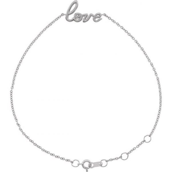 white gold love on your wrist dainty chain bracelet