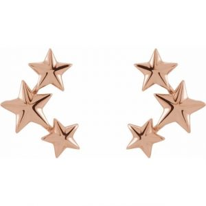 Rose Gold Starry Night Ear Climber