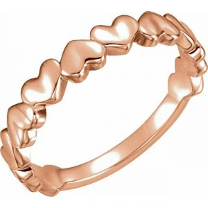 love at the tip of your fingers ring rose gold