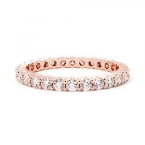 timeless love diamond band rose gold