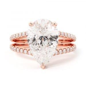 Split Shank Pear Engagement Ring