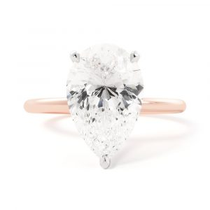 Solitaire Pear Engagement Ring