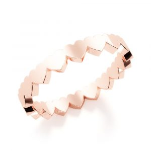 eternal heart ring rose gold
