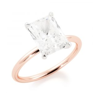 Solitaire Radiant Engagement Ring