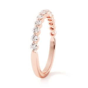 share the love diamond band rose gold