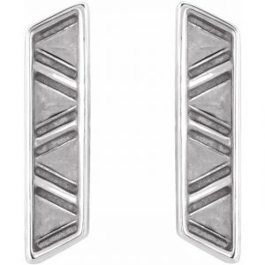 geometric earrings white gold