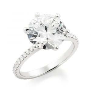 Illusion Diamond Engagement Ring
