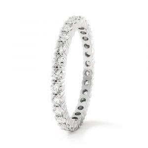timeless love diamond band white gold