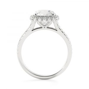 Cloud Cushion Halo Engagement Ring