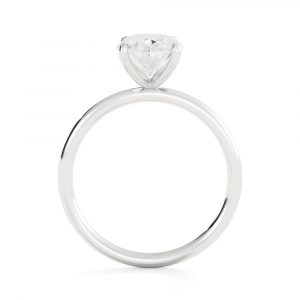 Solitaire Oval Engagement Ring