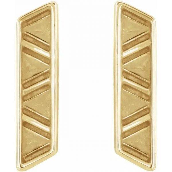 geometric earrings gold
