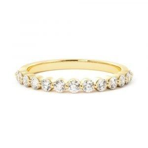 share the love diamond band yellow gold