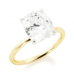 Solitaire Cushion Engagement Ring