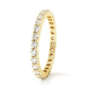 timeless love diamond band yellow gold
