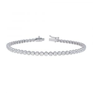 white gold diamond tennis bracelet front view
