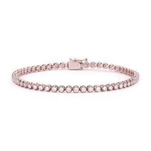 rose gold diamond tennis bracelet front view