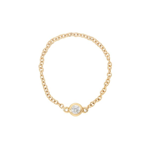 Diamond Bezel Chain Ring