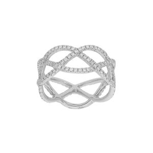 Entwined with Diamonds Ring