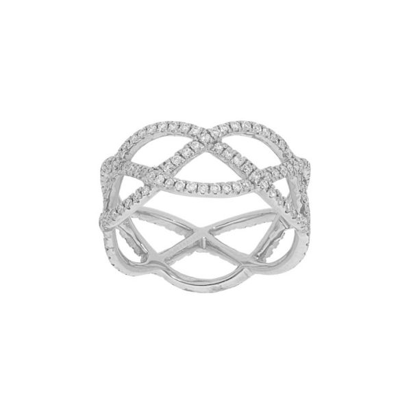 Entwined with Diamonds Ring in white gold