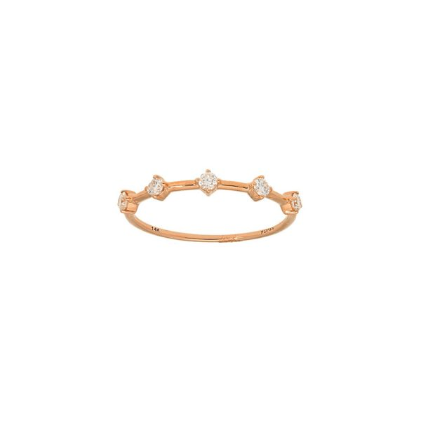 Dotted with Diamonds Ring in rose gold