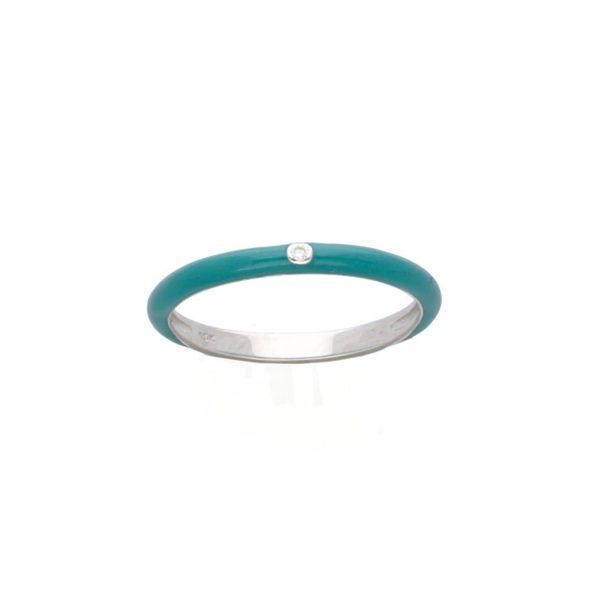 Enamel Diamond Stacking Ring