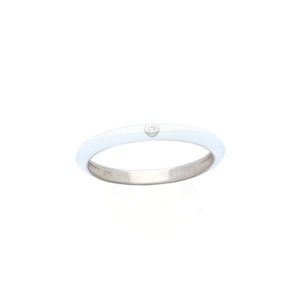 Enamel Diamond Stacking Ring