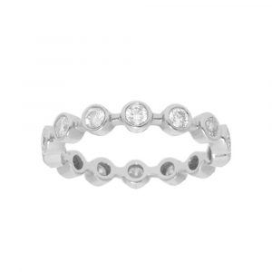 Diamond Bezel Bar Ring