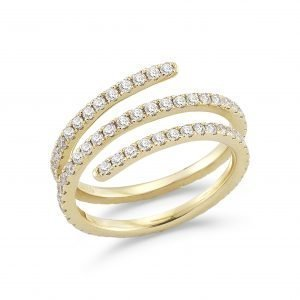 Wrap Around Diamond Ring in yellow gold