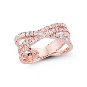 Criss Cross Diamond Ring