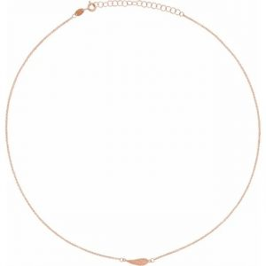 rose gold delicate and dainty angel wing necklace