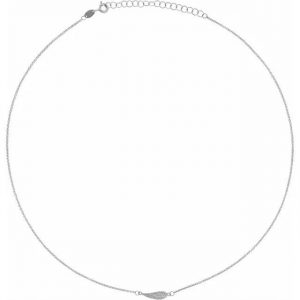 white gold delicate and dainty angel wing necklace