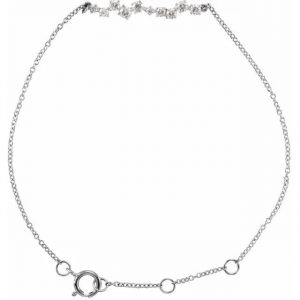white gold accented bar diamond bracelet