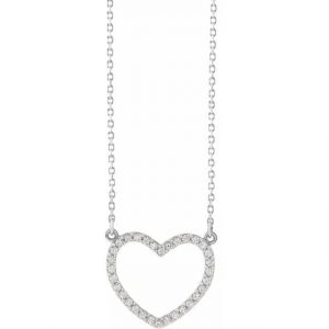white gold diamond heart pendant necklace with diamonds