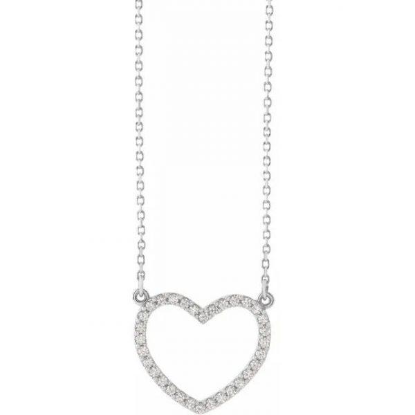 white gold diamond heart pendant necklace with diamonds