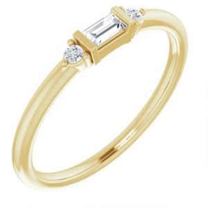 Diamond Baguette Stacking Ring