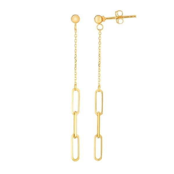 Dangle Paperclip Earrings