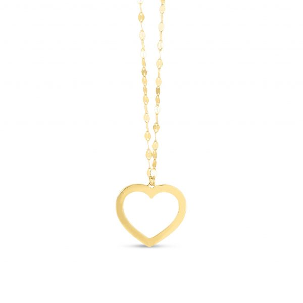 Heart of Gold Reversible Pendant
