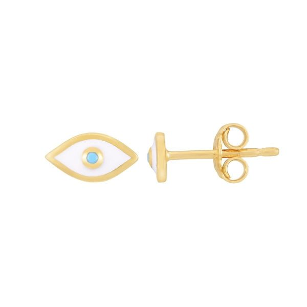 Dainty Evil Eye Earrings